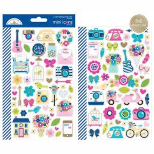 Liebe Papier - Hello - Mini Icons Stickers