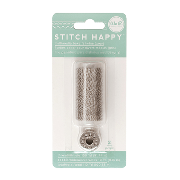 Liebe Papier - Stitch Happy - Multimedia Baker's Twine - Grey