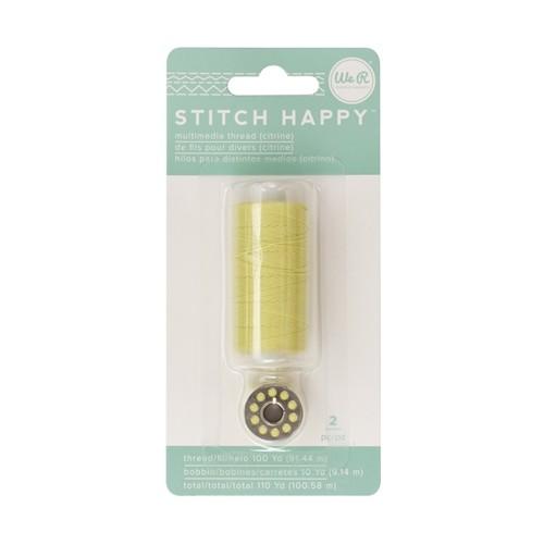 Liebe Papier - Stitch Happy - Multimedia Thread - Citrine