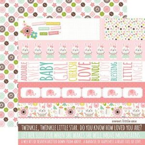 Liebe Papier - Sweet Baby Girl - Border Strips