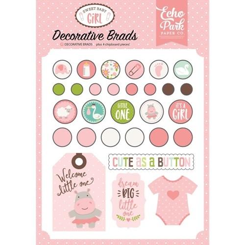 Sweet Baby Girl - Decorative Brads