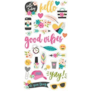 Liebe Papier - Good Vibes - Chipboard