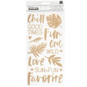 Liebe Papier - Wild Heart - Chill - Glitter Foam Stickers