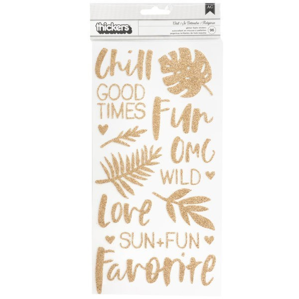 Wild Heart - Chill - Glitter Foam Stickers