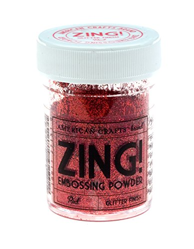 Zing! Embossing Powder - Red - Glitter Finish