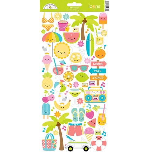 Sweet Summer - Doodle-pops Cardstock Sticker