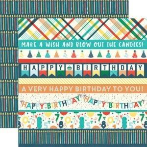 Liebe Papier - Happy Birthday - Border Strips