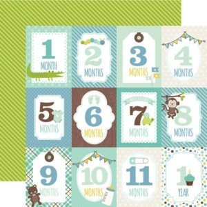 Liebe Papier - Sweet Baby Boy - Month Cards