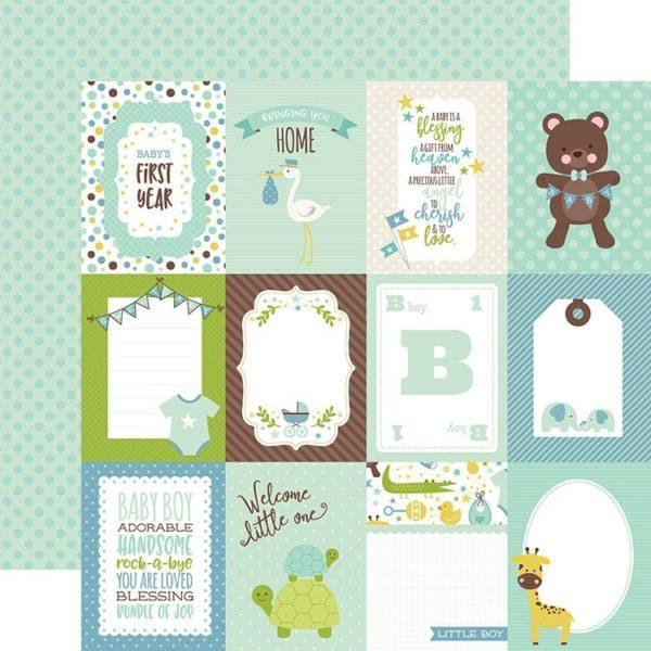 Sweet Baby Boy - 3x4 Journaling Cards