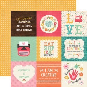 Liebe Papier - I'd Rather be Crafting - 4x4 Journaling Cards