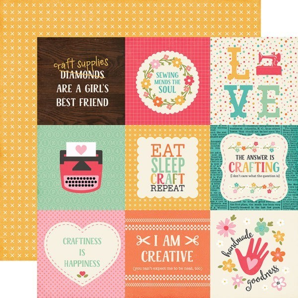I'd Rather be Crafting - 4x4 Journaling Cards
