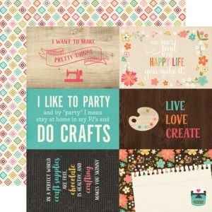 Liebe Papier - I'd Rather be Crafting - 4x6 Journaling Cards