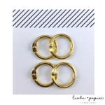 Liebe Papier - Argolas Articuladas - Mini Dourada