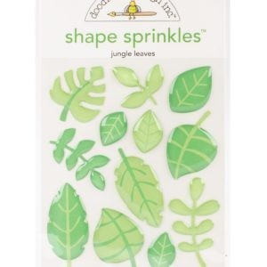 Liebe Papier - at The Zoo - Shape Sprinkles - Jungle Leaves