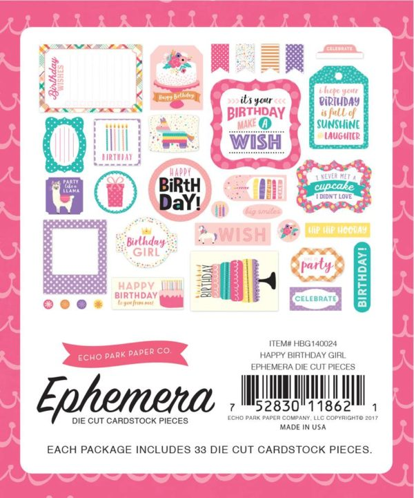 Liebe Papier - Happy Birthday - Ephemera