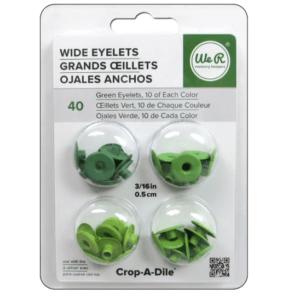Liebe Papier - Wide Eyelets - Green