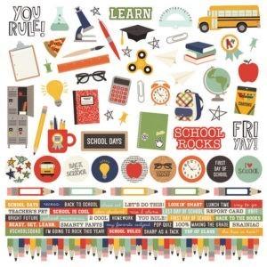 Liebe Papier - School Rocks - 4x4 Elements