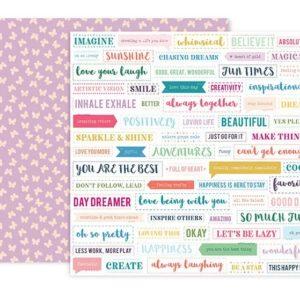Liebe Papier - Whimsical - 12 x 12 Die Cut Paper