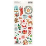 Liebe Papier - Cozy & Bright - Accent Stickers With Glitter