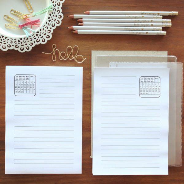Kit Miolo de Agenda Permanente - Liebe Papier