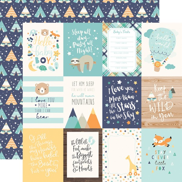 Hello Baby ep Boy - 3x4 Journaling Cards