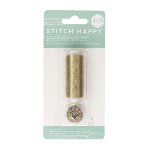Stitch Happy - Multimedia Thread - Metallic Gold