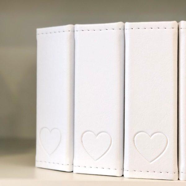 Mini Álbum 13x14cm - Branco Heart