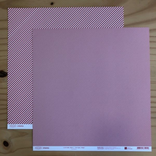 Liebe Papier - Stripes - Listrado Rubi