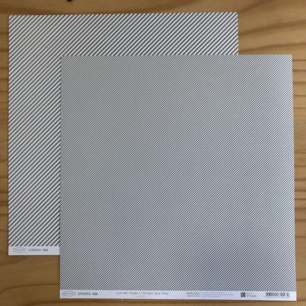 Liebe Papier - Stripes - Listrado Chumbo
