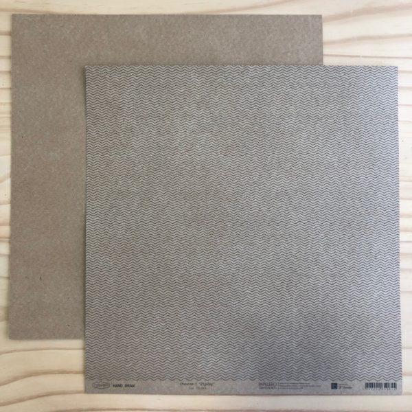 Hand Draw Kraft - Chevron/zigzag Pequeno