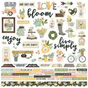 Liebe Papier - Spring Farmhouse - Combo Sticker
