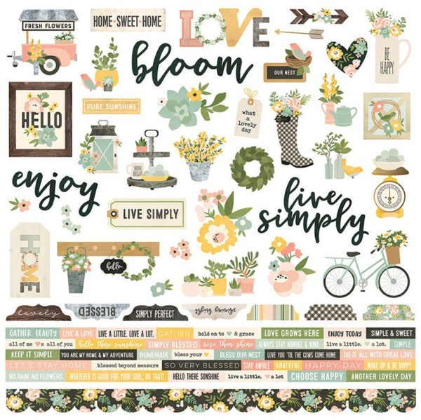 Spring Farmhouse - Combo Sticker
