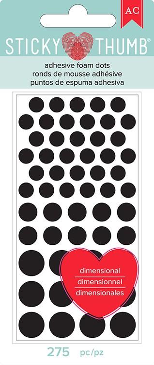 Liebe Papier - Dimensional Foam - Sticky Thumb - Black (dots)