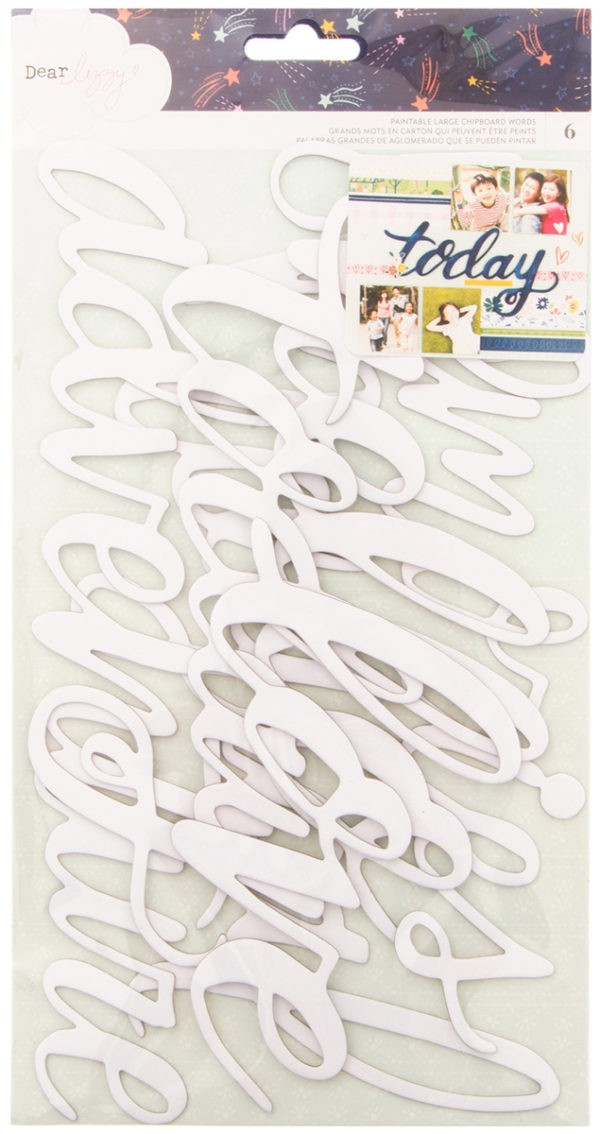 Star Gazer - Paintable Large Chipboard Words