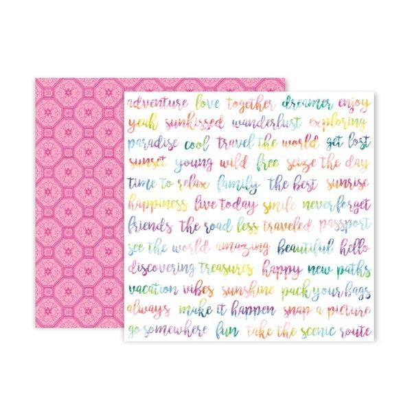 Liebe Papier - Pink Paislee - Horizon - Paper 4