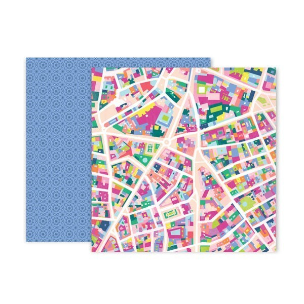 Liebe Papier - Pink Paislee - Horizon - Paper 5