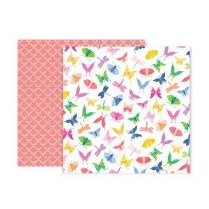 Liebe Papier - Pink Paislee - Horizon - Paper 7
