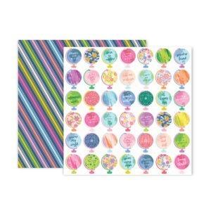Liebe Papier - Pink Paislee - Horizon - Paper 11