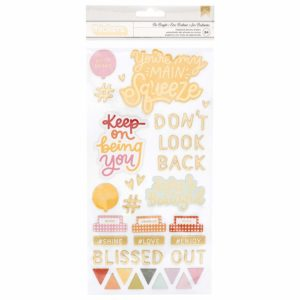 Liebe Papier - It's All Good - be Bright Chipboard Phrase And Icons