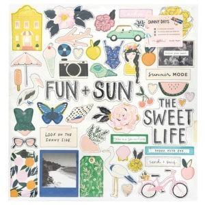 Liebe Papier - Sunny Days - Chipboard