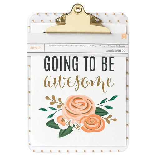 American Crafts - Clipboard And Designer Print