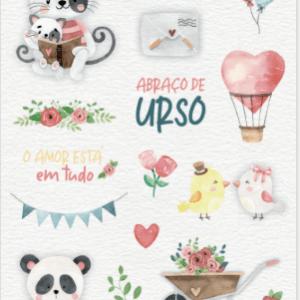Liebe Papier - AbraÇo de Urso - RÉgua de Costura Presente