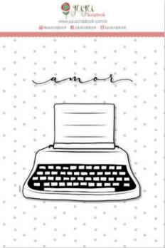 Liebe Papier - Abraço de Urso - Carimbo Pequeno Máquina de Escrever