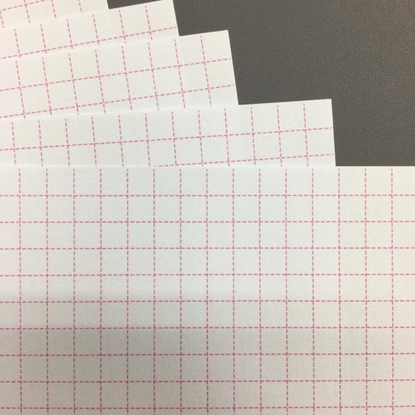 Liebe Papier - Miolo Quadriculado Rosa