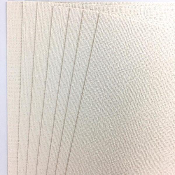 American Crafts - Cardstock Texturizado Vanilla