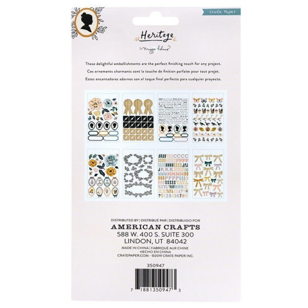 Liebe Papier - Crate Paper - Heritage - Clear Sticker