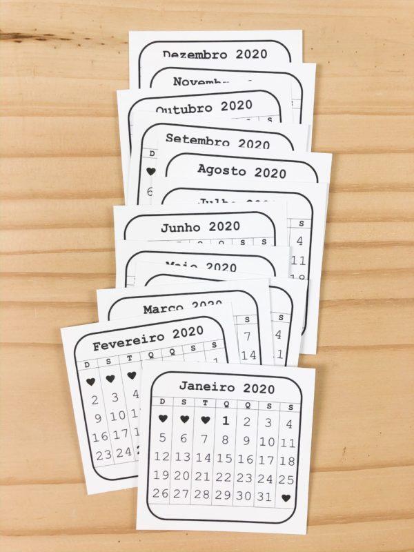 Calendario 2020 - Liebe Papier