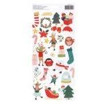 Liebe Papier - Merry Little Christmas - Accent  Stickers