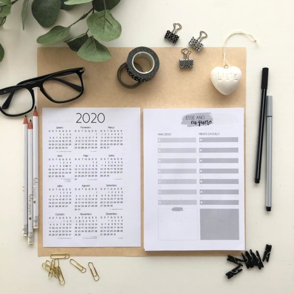 Liebe Papier - Kit Miolo de Agenda 2020 - Liebe Papier