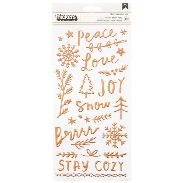 Liebe Papier - Snowflake -  Thickers Puffy Phrase And Icon